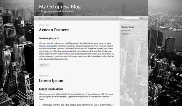 Octopress themes: New York